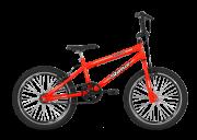 Bicicleta Status Cross Action Aro 20 1V V-Brake Laranja Neon