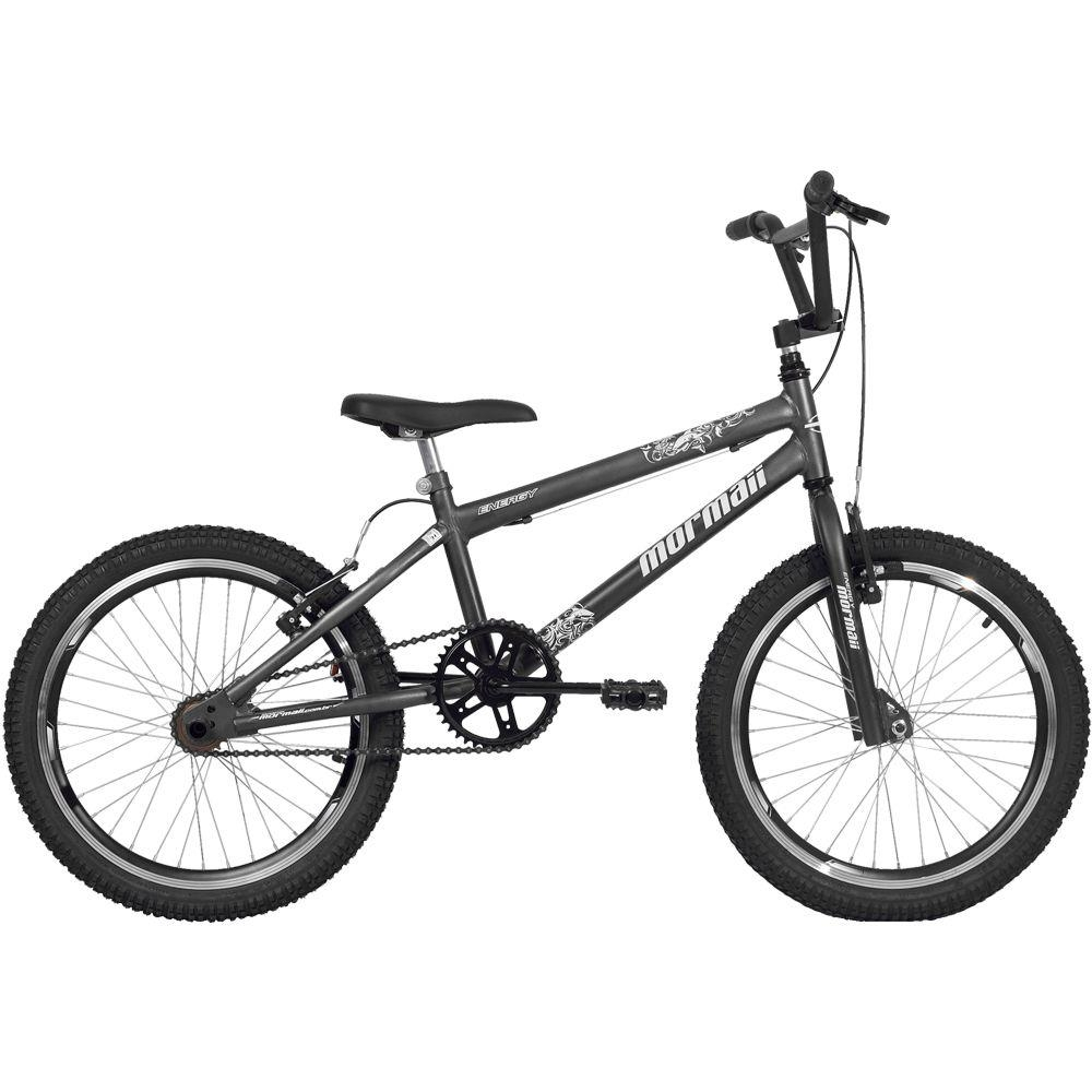 Bicicleta Mormaii Cross Energy Aro 20 1V V-Brake Grafite