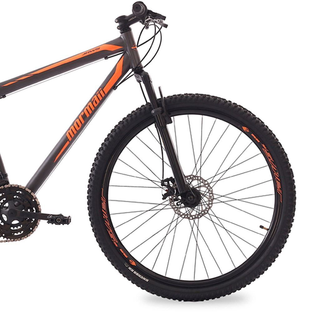Bicicleta Mormaii  Jaws Aro 29 21V Susp Disk Brake Grafite/Laranja