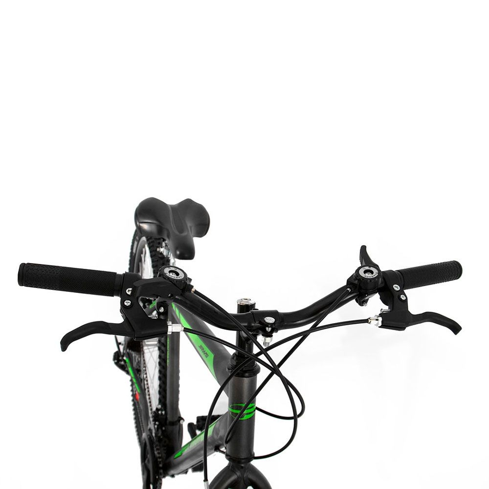Bicicleta Mormaii  Jaws Aro 29 21V Susp Disk Brake Grafite/Verde