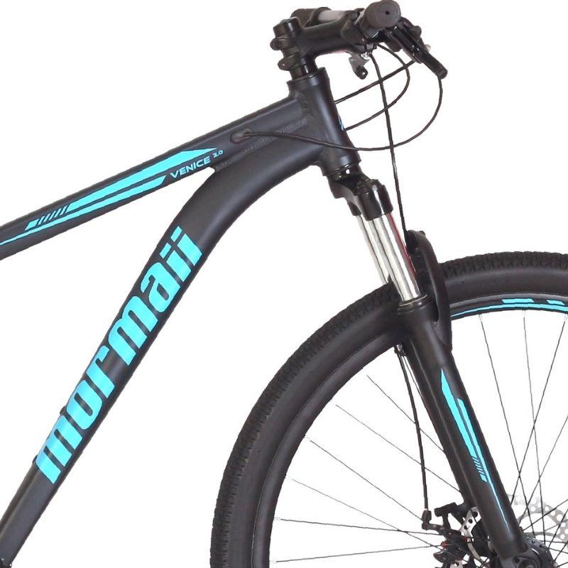 Bicicleta Mormaii Venice 3.0 Aro 29 21V Disk Brake Grafite/Acqua Blue