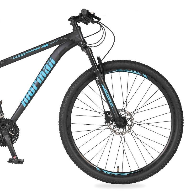 Bicicleta Mormaii Venice 4.0 Aro 29 27V Disk Brake Grafite/Acqua Blue