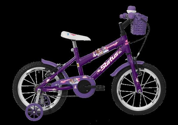 Bicicleta Status Belíssima Aro 16 1V V-Brake Violeta