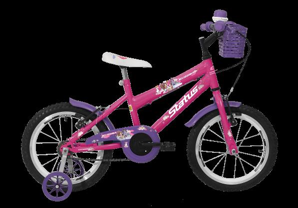 Bicicleta Status Belíssima Aro 16 1V V-Brake Rosa Barbie
