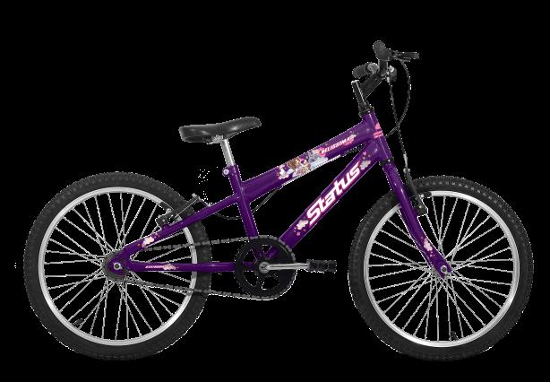 Bicicleta Status Belíssima Aro 20 1V V-Brake Violeta