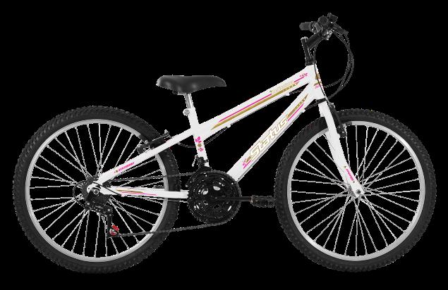 Bicicleta Status Belissima Aro 24 18V V-Brake Branco