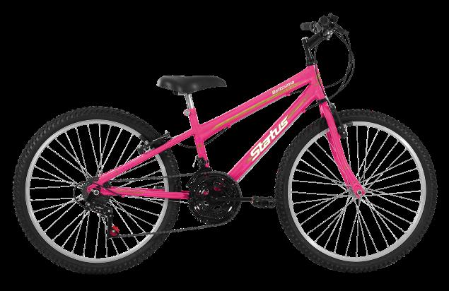 Bicicleta Status Belissima Aro 24 18V V-Brake Rosa Barbie
