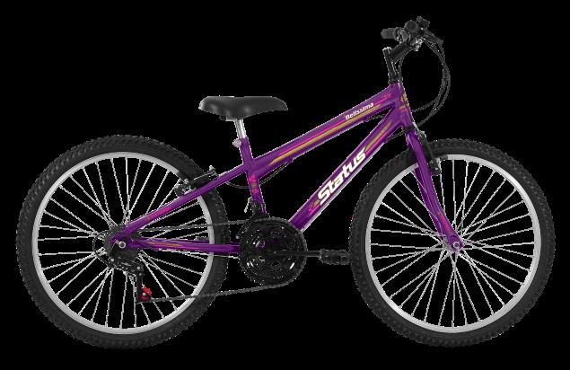 Bicicleta Status Belissima Aro 24 18V V-Brake Violeta