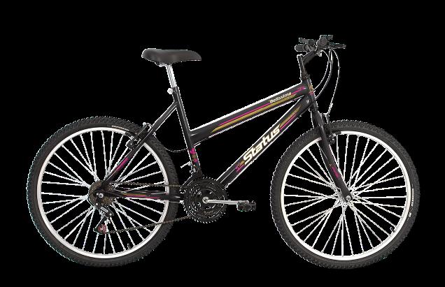 Bicicleta Status Belissima Aro 26 18V V-Brake Preto Fosco