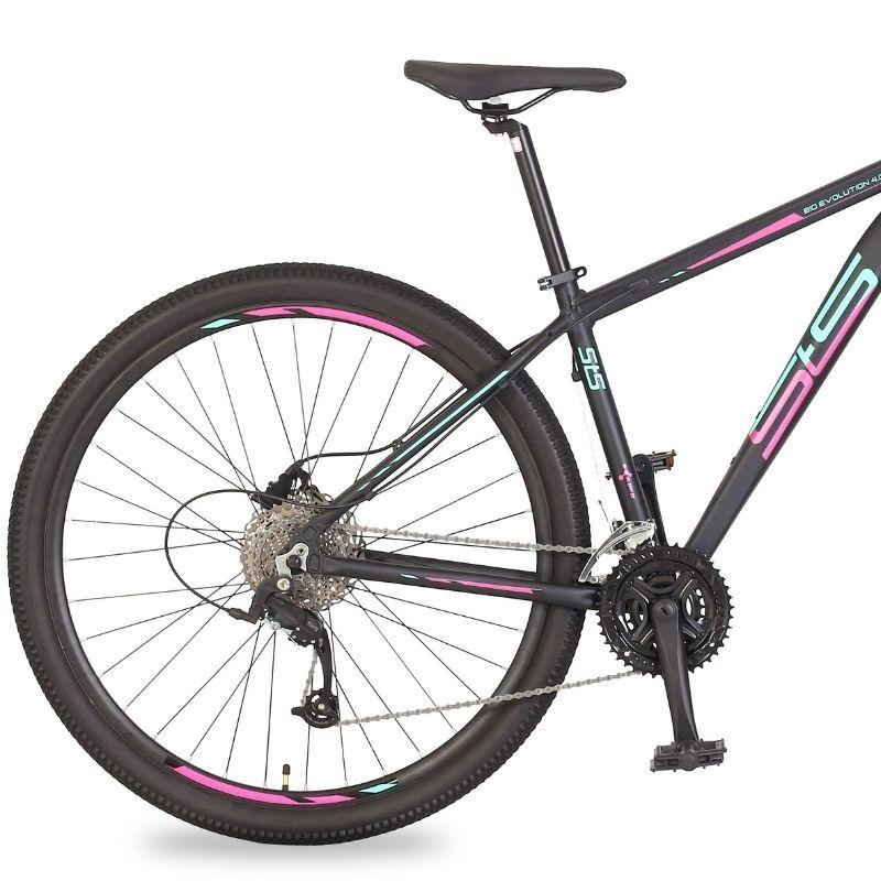 Bicicleta Status Big Evolution 4.0 Aro 29 27V Disk Brake Grafite/Magenta-Verde