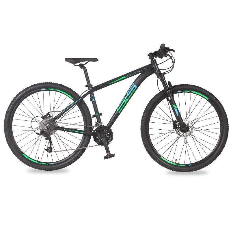 Bicicleta Status Big Evolution 4.0 Aro 29 27V Disk Brake Grafite/Verde-Acqua Blue