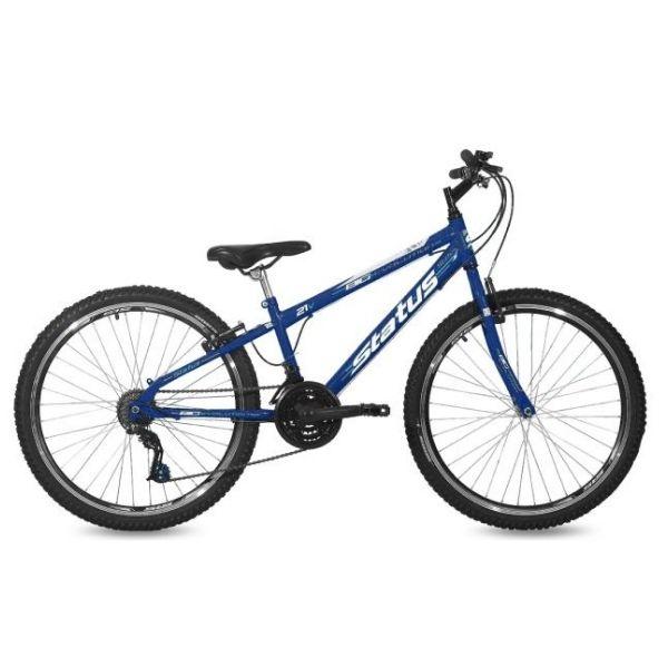 Bicicleta Status Big Evolution Freeride Aro 26 21V V-Brake Azul Real