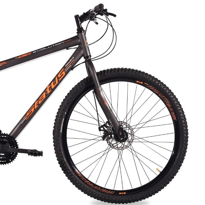 Bicicleta Status Big Evolution Aro 29 21V Disk Brake Preto Brilhante/Laranja