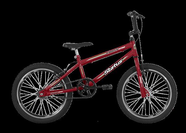 Bicicleta Status Cross Action Aro 20 1V V-Brake Vermelho