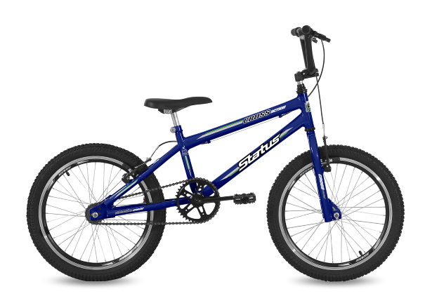 Bicicleta Status Cross Action Aro 20 1V V-Brake Azul Real