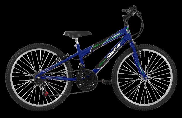 Bicicleta Status Lenda Aro 24 18V V-Brake Azul Real