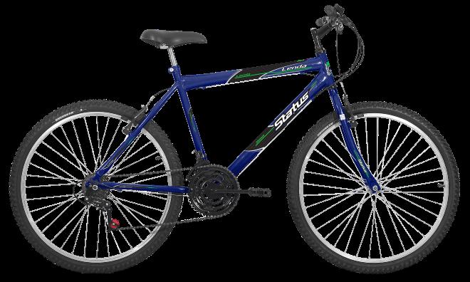Bicicleta Status Lenda Aro 26 18V V-Brake Azul Real