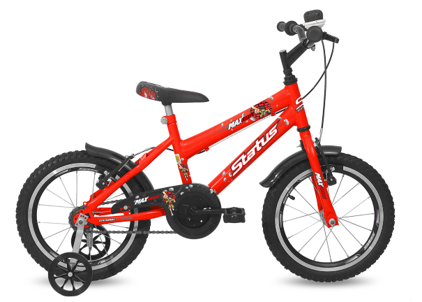 Bicicleta Status Max Force Aro 16 1V V-Brake Laranja Neon