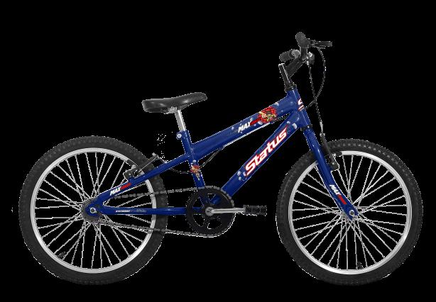 Bicicleta Status Max Force Aro 20 1V V- Brake Azul Real