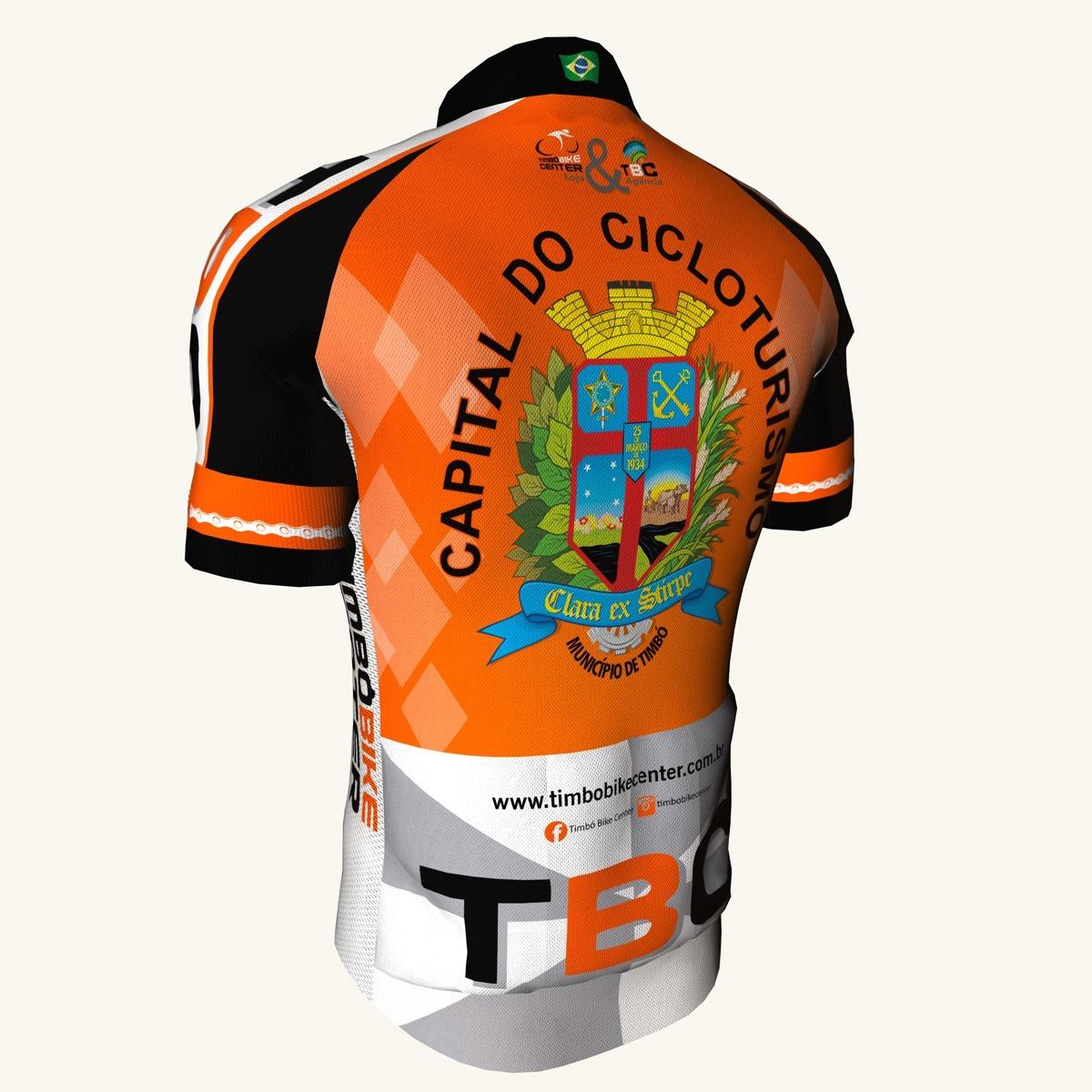 Camisa de Ciclismo Manga Curta TBC Timbó Bike Center Capital do Cicloturismo Unissex