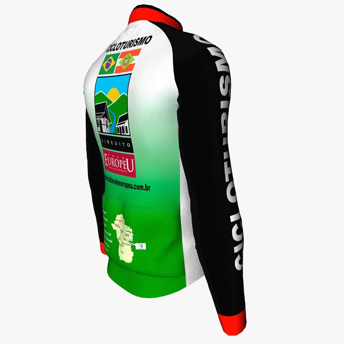 Camisa de Ciclismo Manga Longa Oficial Circuito Vale Europeu Unissex
