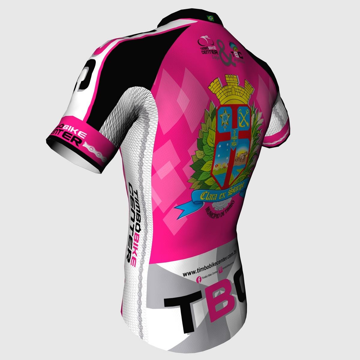 Camisa de Ciclismo Slim Manga Curta TBC Timbó Bike Center Feminino