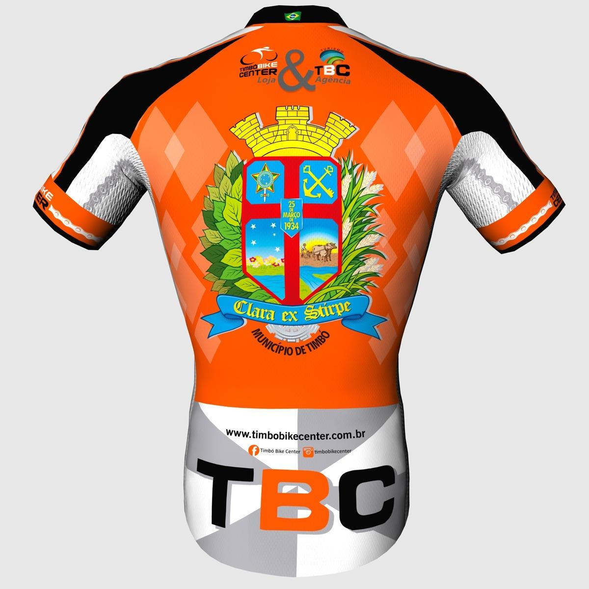Camisa de Ciclismo Slim Manga Curta TBC Timbó Bike Center Masculino