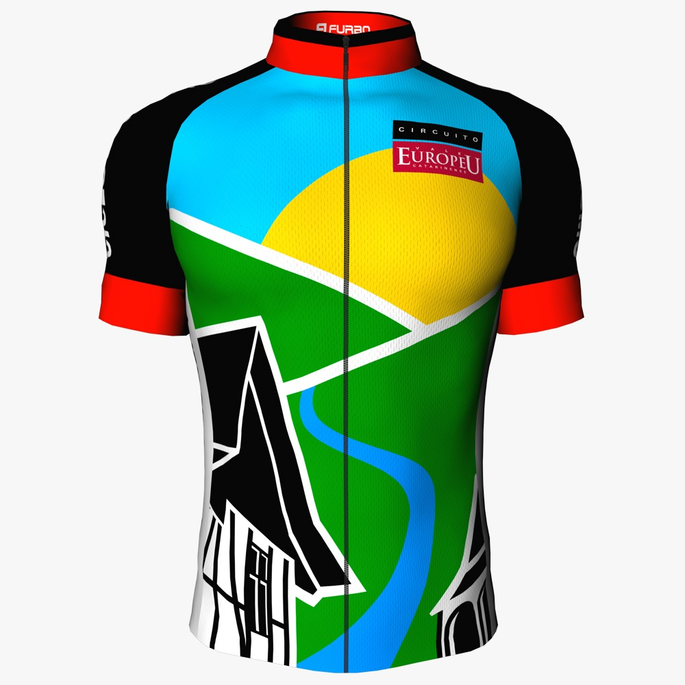 Camisa de Ciclismo Manga Curta Oficial Circuito Vale Europeu Unissex