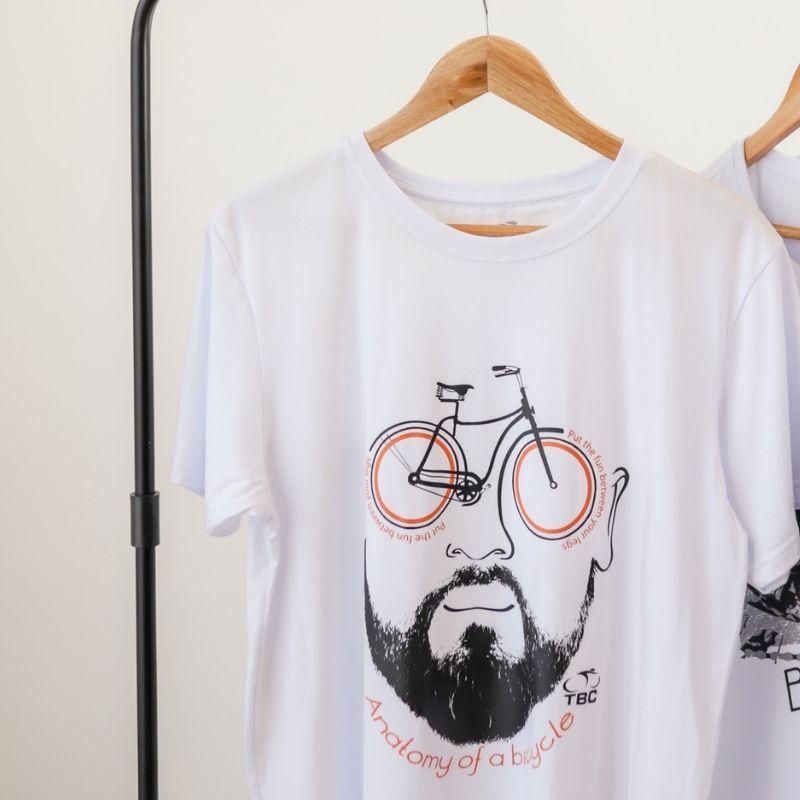 Camisa Anatomy Bike Branca Bicicleta Ciclismo