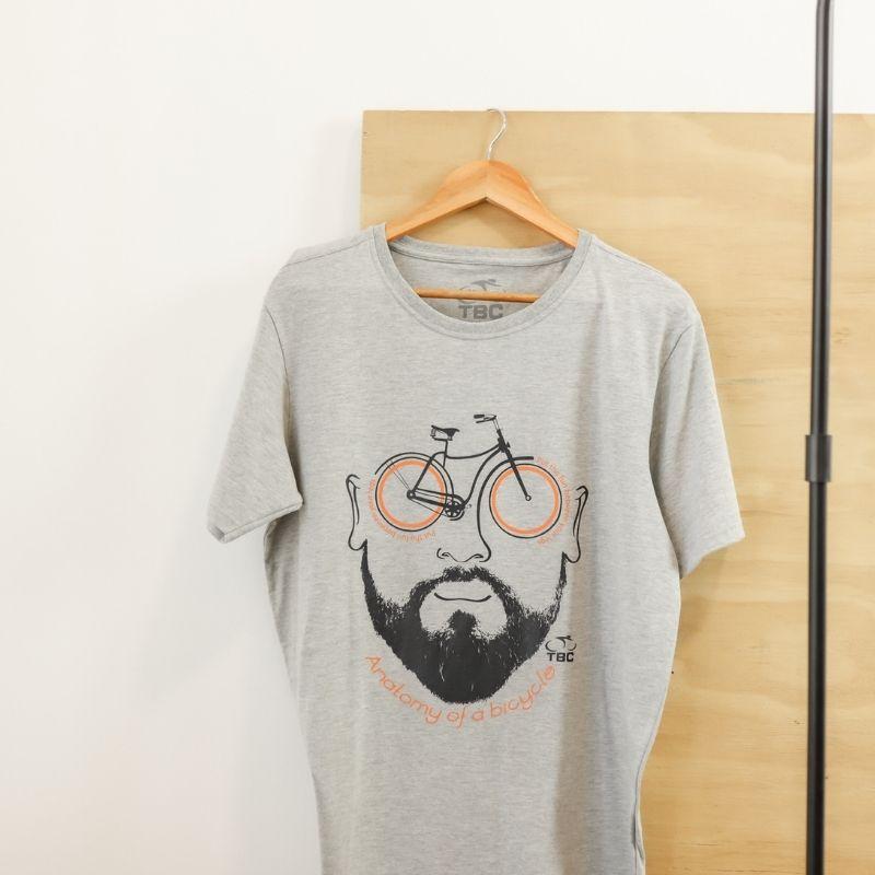 Camisa Anatomy Bike Cinza Mescla Bicicleta Ciclismo