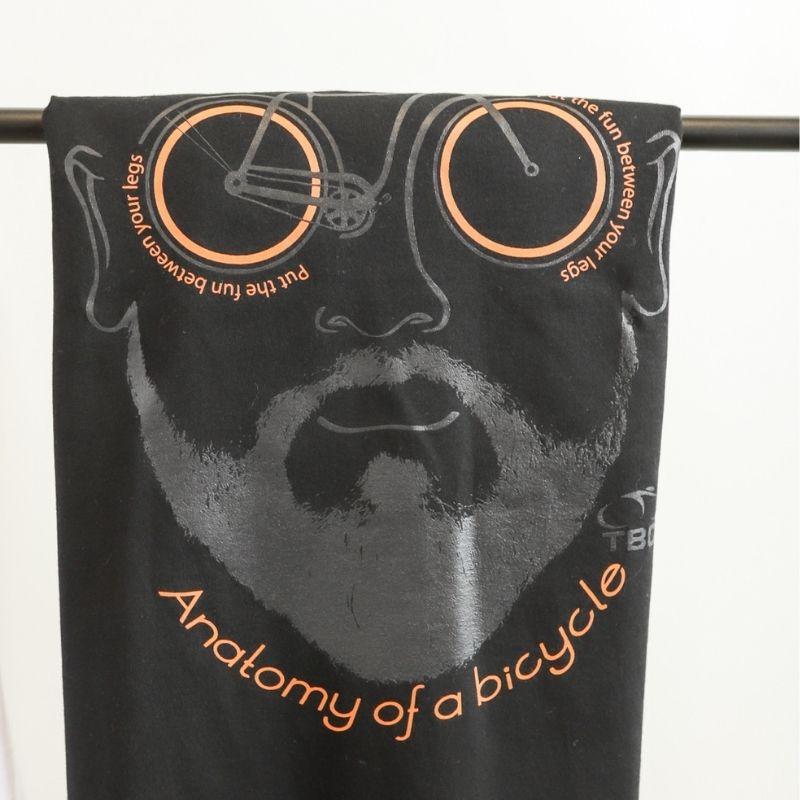 Camisa Anatomy Bike Preto Bicicleta Ciclismo