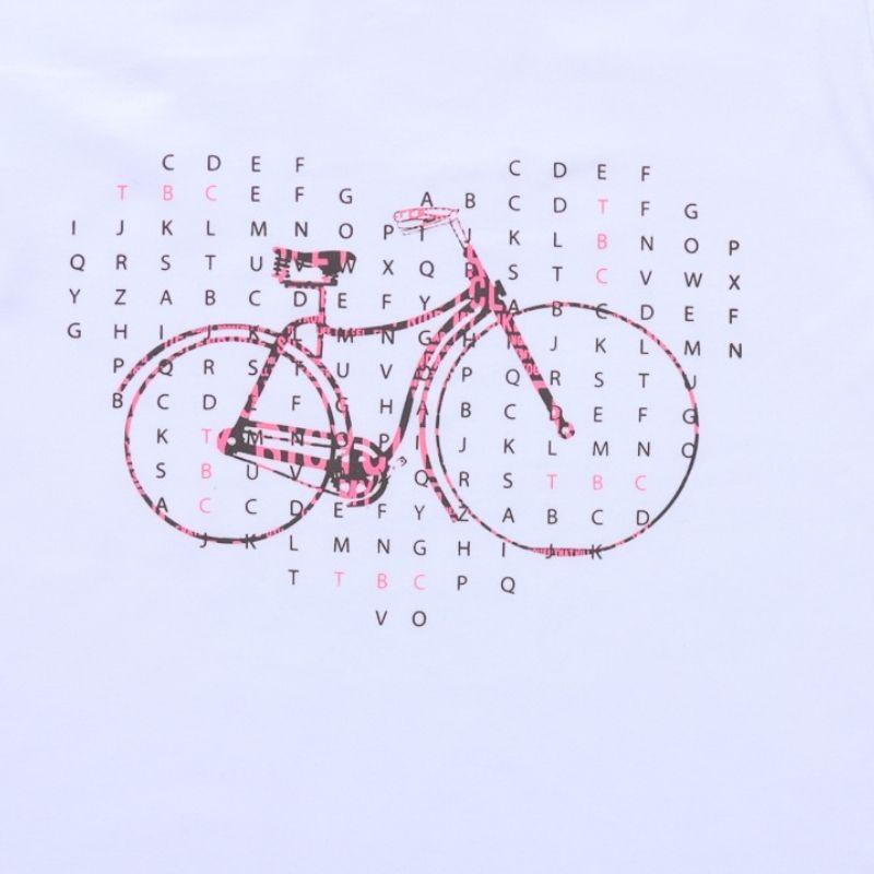 Camiseta Feminina Retrô Bike Branca Bicicleta Ciclismo