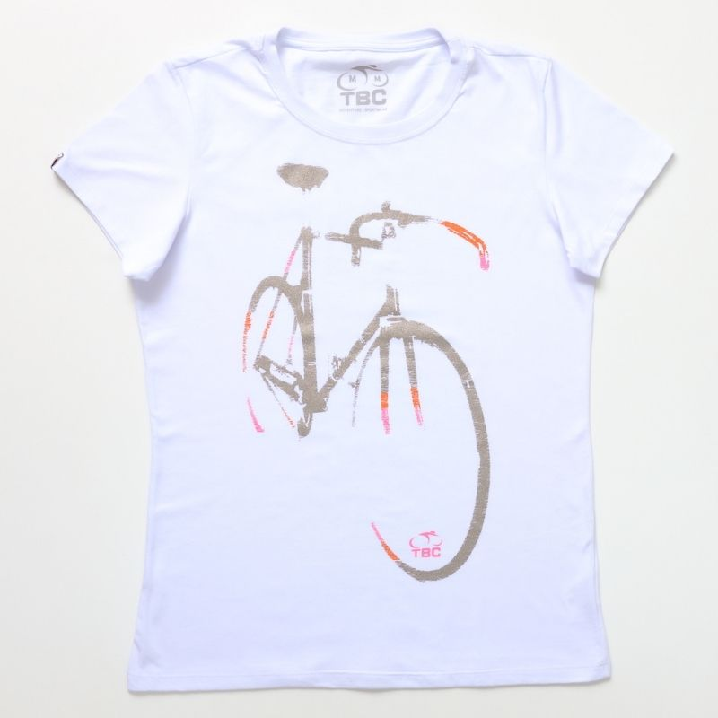 Camiseta Feminina Speed Bike Branca Bicicleta Ciclismo