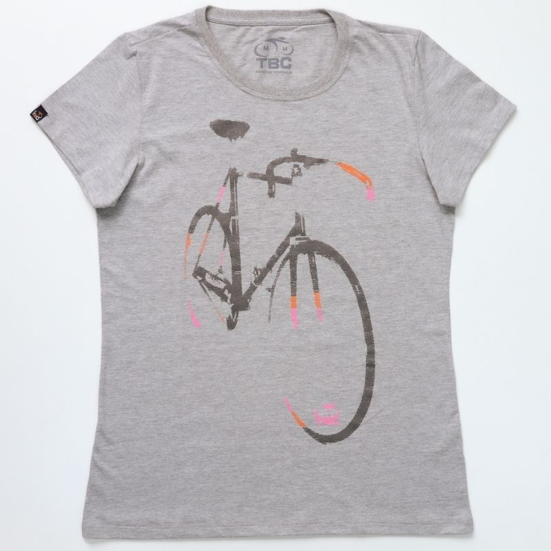 Camiseta Feminina Speed Bike Cinza Mescla Bicicleta Ciclismo