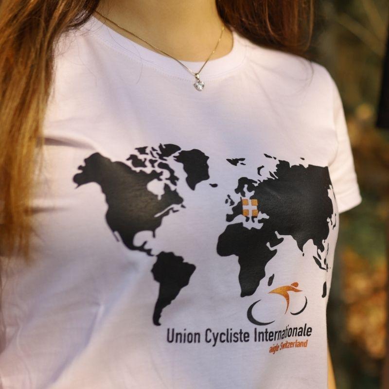 Camiseta Feminina Union Cycles Bike Branca Bicicleta