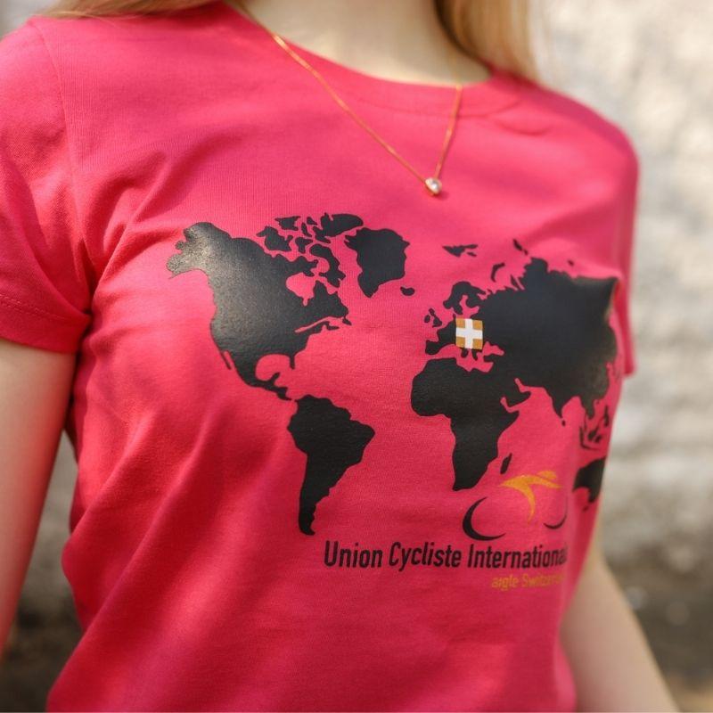 Camiseta Feminina Union Cycles Bike Pink Bicicleta