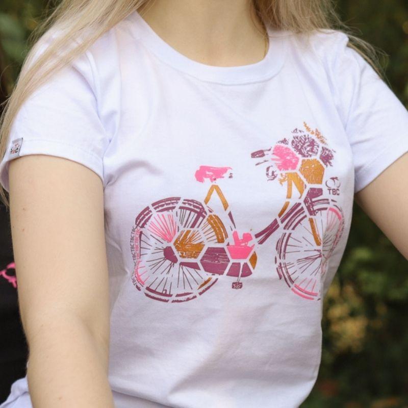 Camiseta Feminina Urban Bike Branca Bicicleta Ciclismo