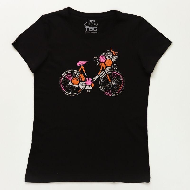 Camiseta Feminina Urban Bike Preto Bicicleta Ciclismo