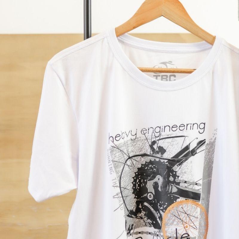 Camisa Running Bike Branca Bicicleta Ciclismo