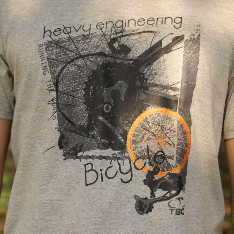 Camisa Running Bike Cinza Mescla Bicicleta Ciclismo