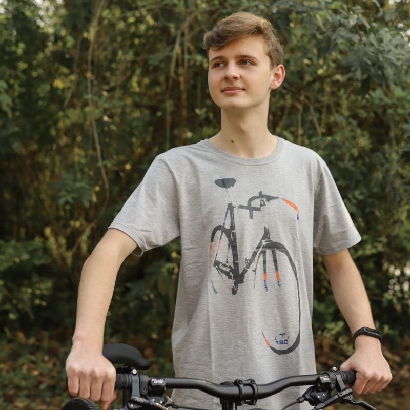 Camisa Speed Bike Cinza Mescla Bicicleta Ciclismo