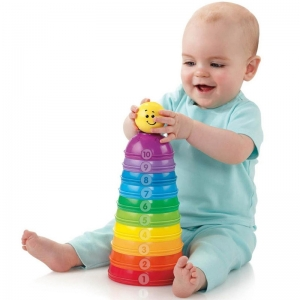 Fisher Price Brilliant Basics Potinhos Empilhar & Rolar - Mattel