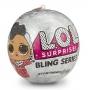 Mini Boneca LOL LIL Outrageous Littles Bling Series - Candide