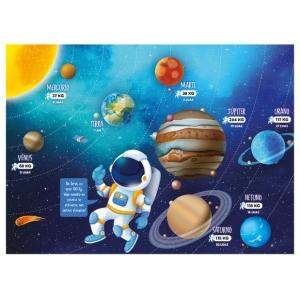 Puzzle 100 peças Conhecendo os Planetas