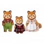 Sylvanian Families - Família dos Pandas-Vermelhos - Noz