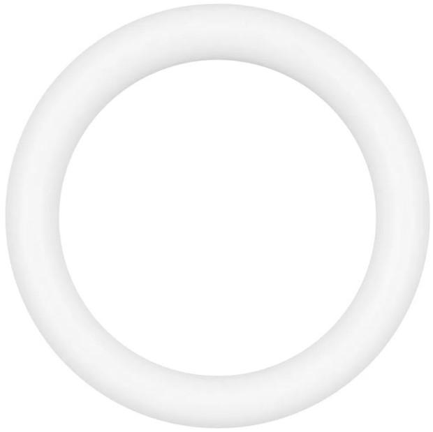 Argola Média PP Branca - Bella Arte