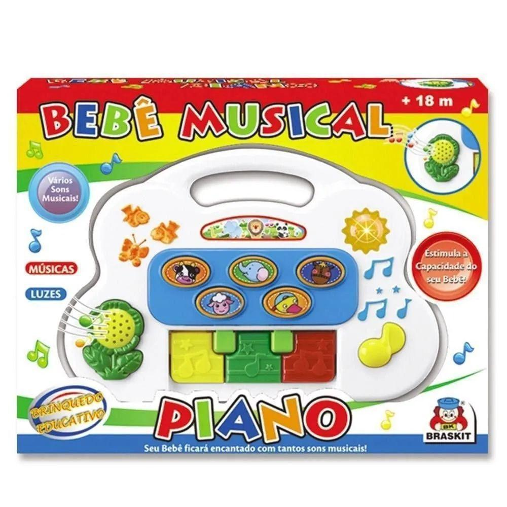 Bebê Musical Piano - Braskit