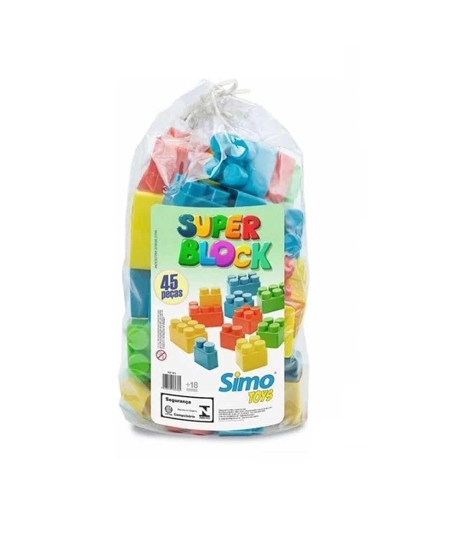 Blocos Super Block 45 Peças Grandes - Simo Toys