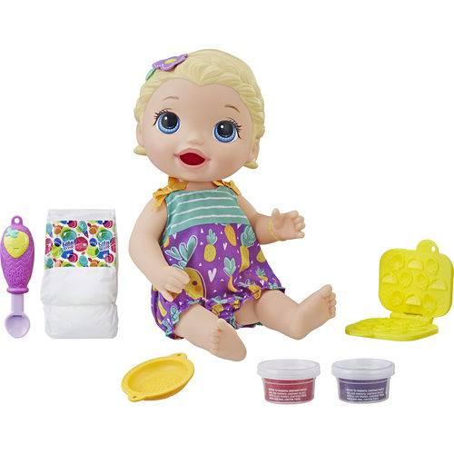 Boneca Baby Alive loira lanchinho - Hasbro