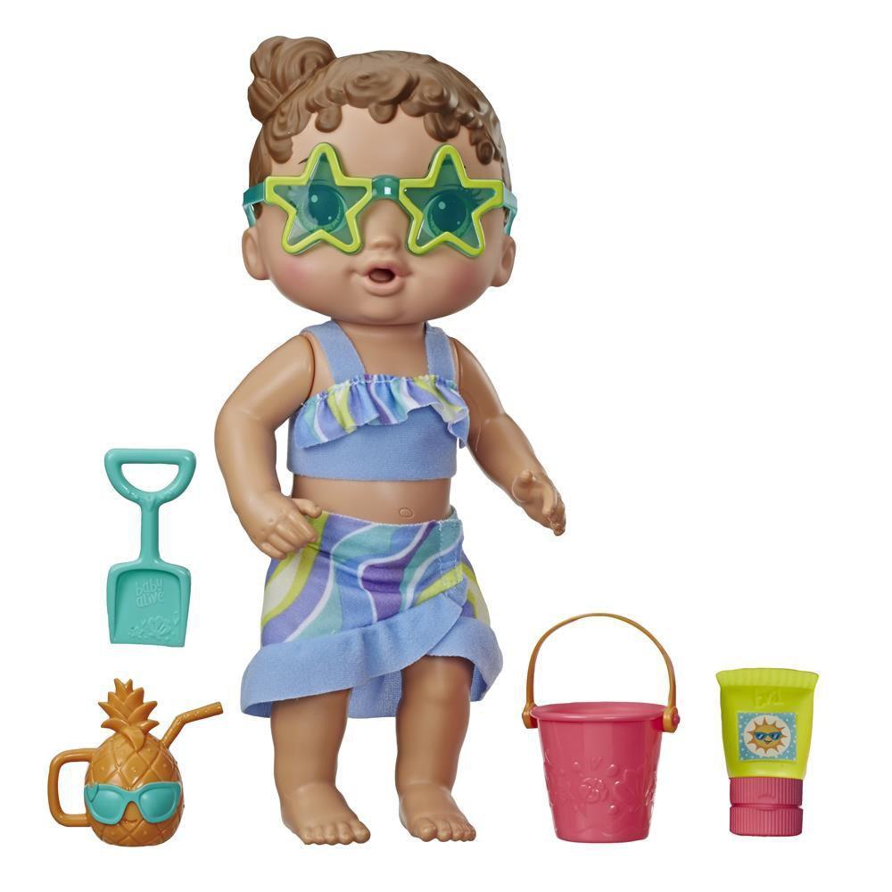 Boneca baby alive sol e areia morena - Hasbro